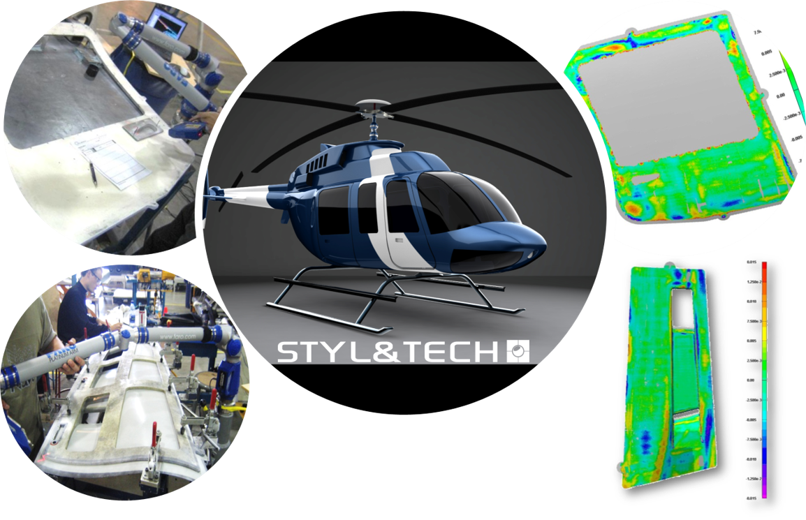 3D Scanning | Reverse Engineering Services   Bell Helicopter 209 body parts & tools