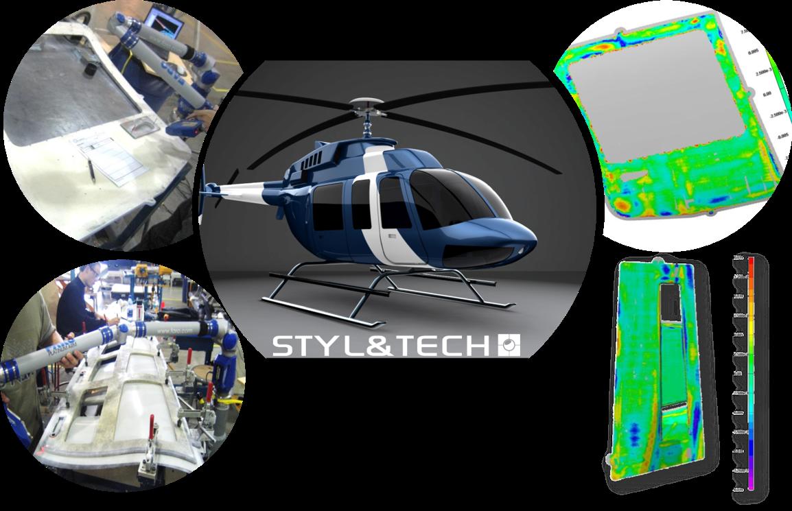 Numérisation 3D | Service de rétro ingénierie de 209 pièces et outillages pour Bell Hélicoptère