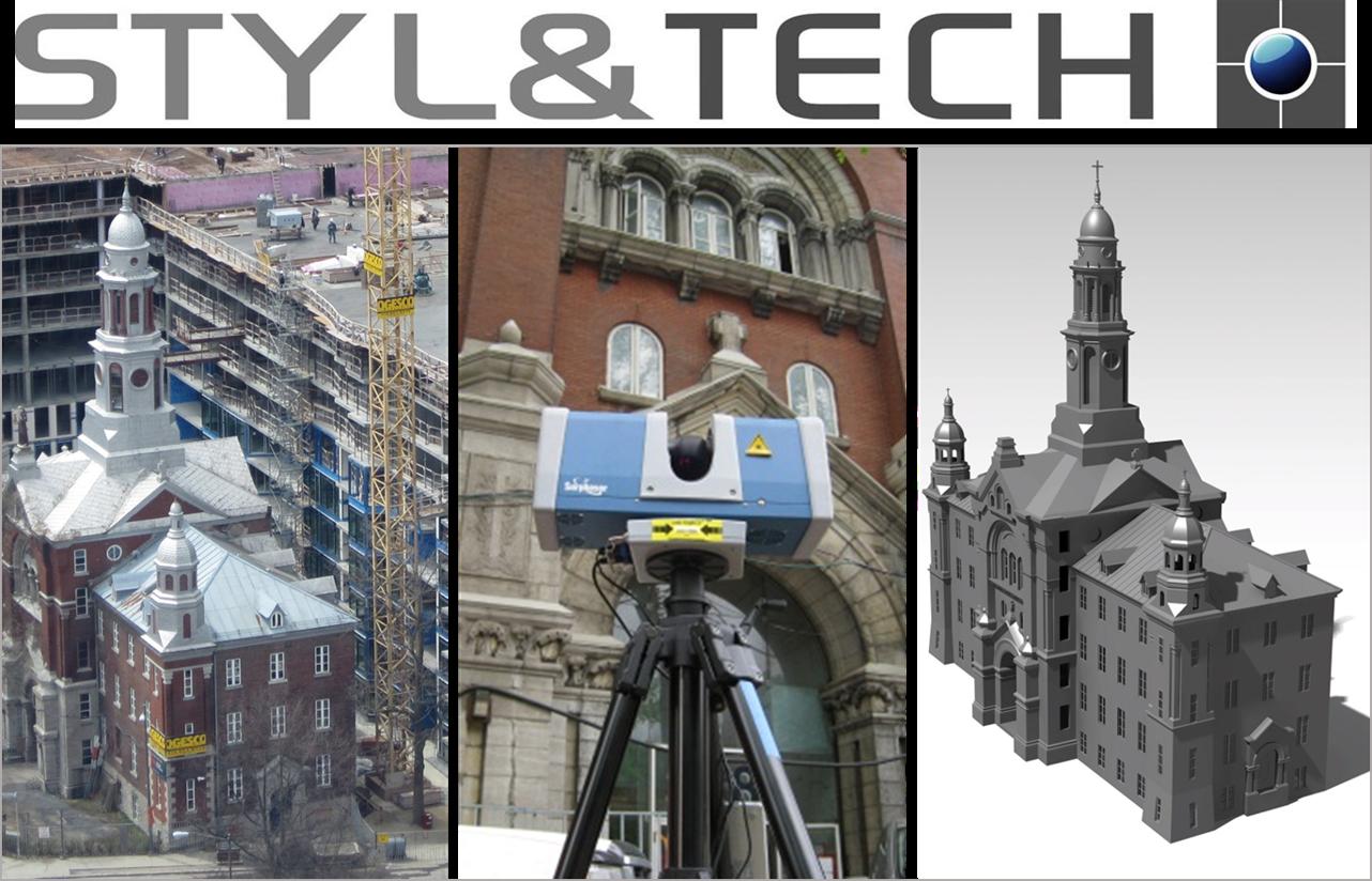 Services de Numérisation 3D | Rétro – Ingénierie  de l'architecture d'un bâtiment historique