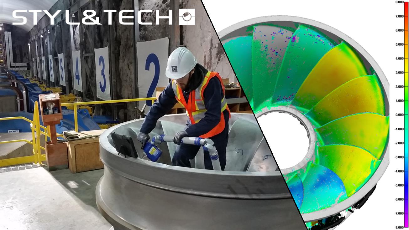 Services de Numérisation 3D | Métrologie 3D   Centrale hydroélectrique – Turbine Francis